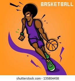 Afro Basketball Player
