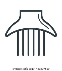 Afro Comb Vector Icon