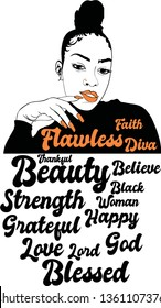 Afro diva vector, Nails