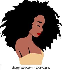 Afro girl, black woman, queen, african -american