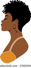 Afro girl, cute black, afro woman, short hair, queen, african,