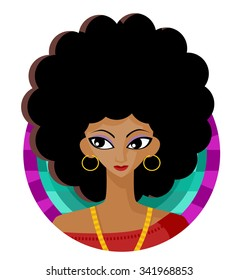 afro hairstyle girl