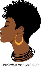 Afro woman, black girl, african queen, african-american, cute