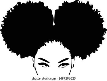 Afro Woman Black Magic Silhouette Magic