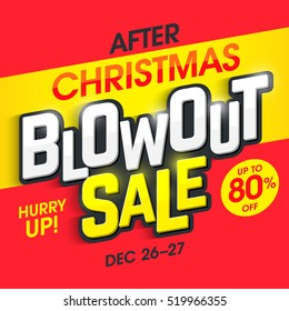 After Christmas Blowout Sale banner