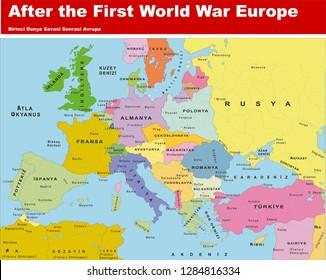 After the first world War Europe