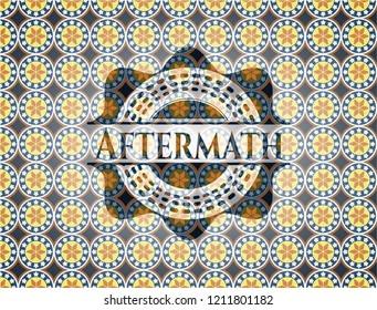 Aftermath arabesque badge. arabic decoration.