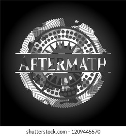 Aftermath grey camouflage emblem
