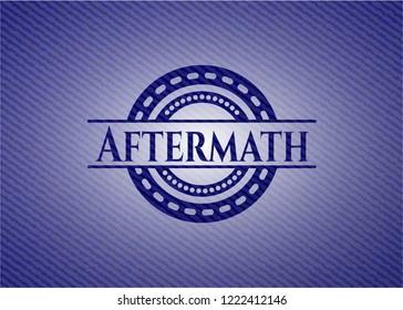 Aftermath jean or denim emblem or badge background