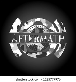 Aftermath on grey camouflage pattern
