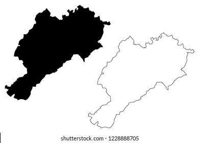 Afyonkarahisar (Provinces of the Republic of Turkey) map vector illustration, scribble sketch Afyonkarahisar ili (Afyon Province) map