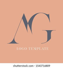 AG abstract letters logo design. Monogram. Company logo. Letters A and G.