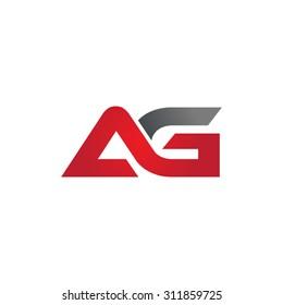 AG company group linked letter logo