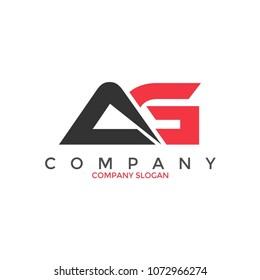 AG company letter logo design