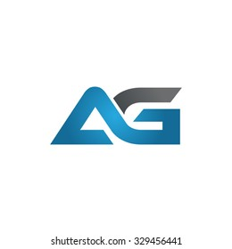 AG company linked letter logo blue