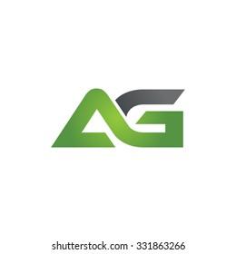 AG company linked letter logo green