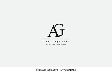 AG or GA logo. Unique attractive creative modern initial AG GA A G initial based letter icon logo