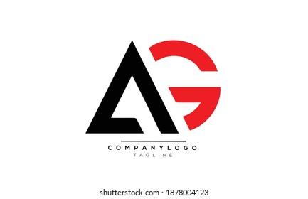AG icon monogram letter text alphabet logo design