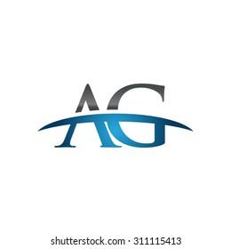 AG initial company group blue swoosh logo