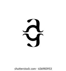 ag letetr vector logo