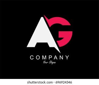 AG Letter Logo Design Template Element