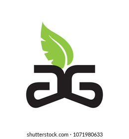 ag letter vector logo