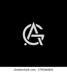 AG logo design. Vector illustration.
