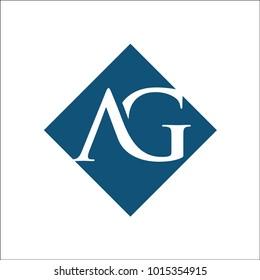 AG rhombus initial typography typeface logotype alphabet font image vector icon