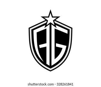 AG shield Star emblem black logo image icon