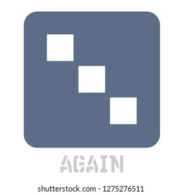 Again concept icon on white