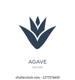 agave icon vector on white background, agave trendy filled icons from Nature collection, agave vector illustration