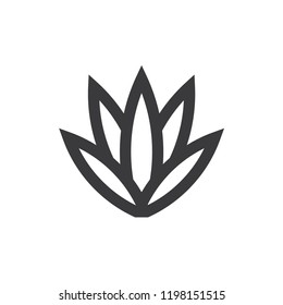 Agave vector icon. Plant,leaf symbol flat vector sign isolated on white background. Simple vector illustration for graphic and web design.