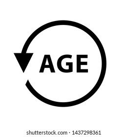 Age Vector Icon. Age symbol illustration.