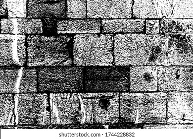 Aged grungy coarse stonework city.Damage front decor cellar house. Built bumpy vintage smoked fortress yard 3D design.Shabby rural facade fortified tower. Messy backdrop of ground floor castle dungeon