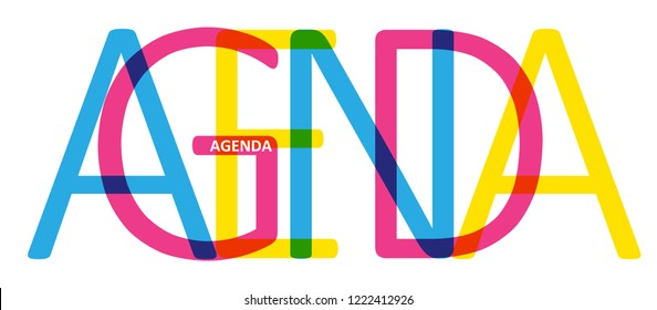AGENDA colorful letters banner