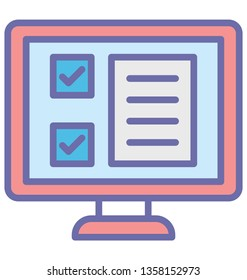 Agenda Isolated Vector icon which can easily modify or edit