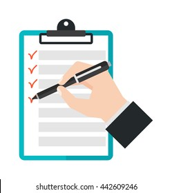 Agenda list icon vector illustration