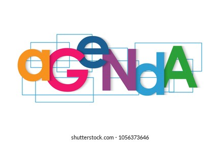 Agenda vector letters