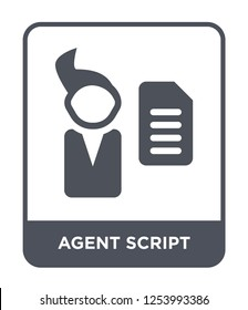 agent script icon vector on white background, agent script trendy filled icons from General collection, agent script simple element illustration