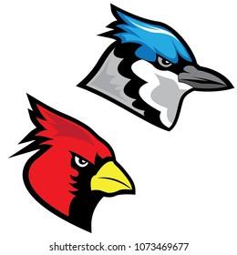 Aggressive Bird Mascot Vectors