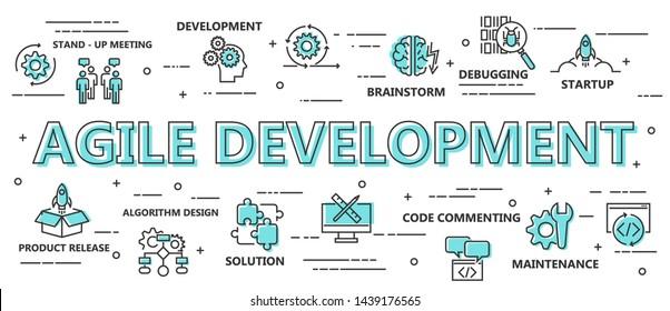Agile Development Background. Vector Illustration.