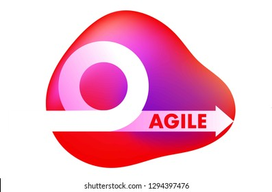 Agile development methodology icon vector illustration. Agile Life Cycle Icon Vector. Flexible developing process logo. T-shirt print.