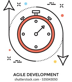 Agile Development Vector Icon