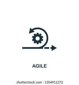 Agile icon. Creative element design from content icons collection. Pixel perfect Agile icon for web design, apps, software, print usage.