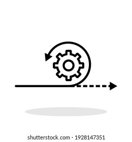 Agile icon in flat style. Agility symbol for your web site design, logo, app, UI Vector EPS 10.