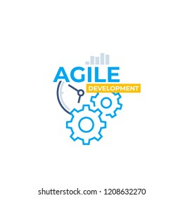 Agile software development, vector icon