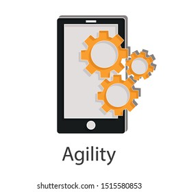 Agility icon concept on white background. Business resilience idea creative design. Flat vector illustration use for your project.