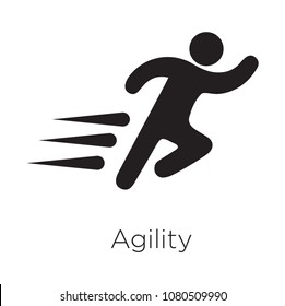 Agility icon vector
