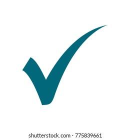 agree icon, check mark vector icon, flat design best vector check mark illustration