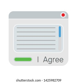 agree window icon. flat illustration of agree window vector icon for web